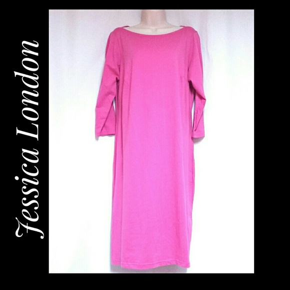 Jessica London Dresses & Skirts - SALE**Jessica London 3/4 Sleeve Pink Dress Size 12